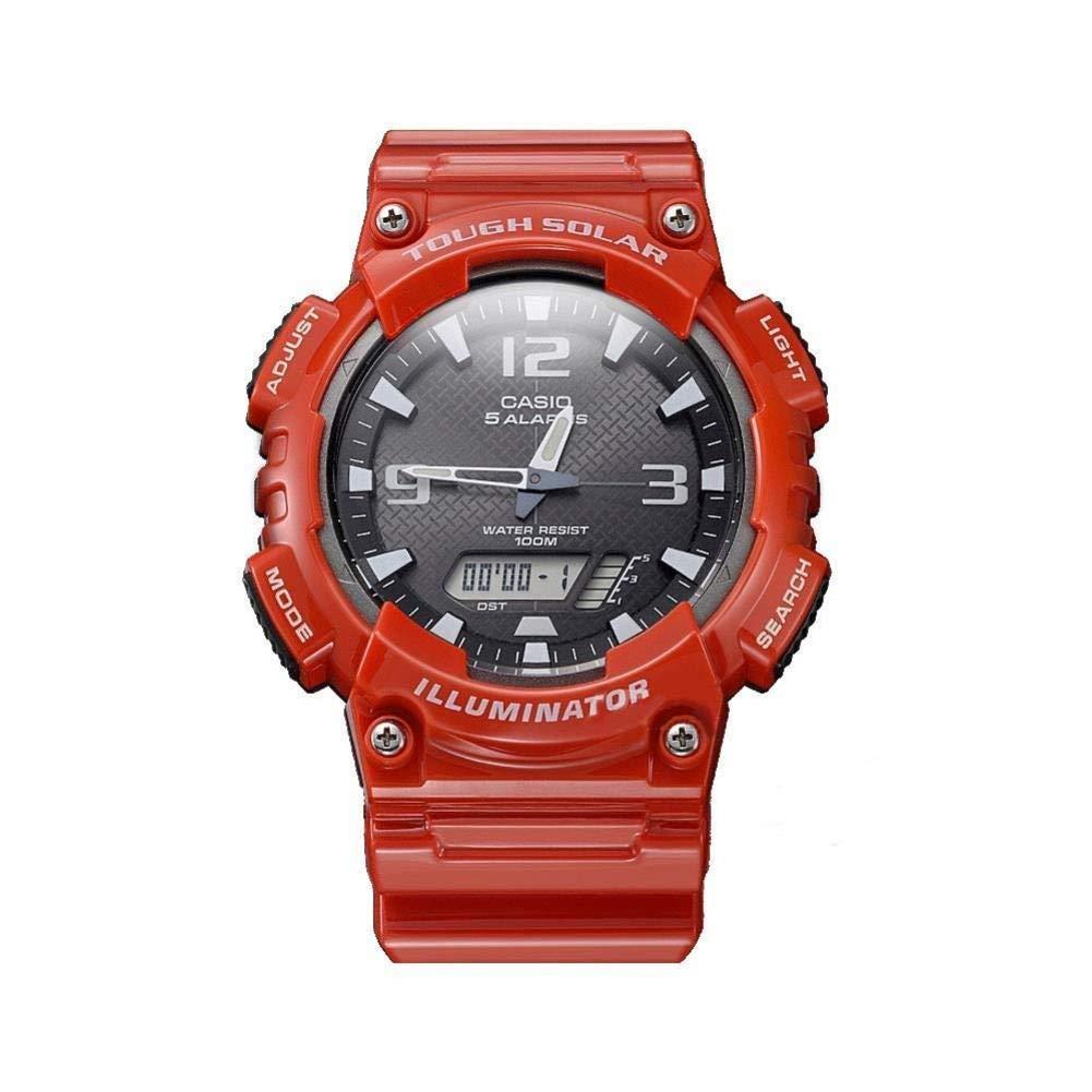 スマートウォッチスイミング防水ステップカウンター温度モニタリングスマートブレスレットタッチスクリーンコントロール防水スマートウォッチ (色 : 赤)  赤 B07QG68ZP1