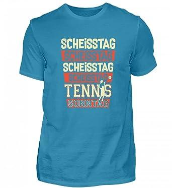 Hochwertiges Herren Organic Shirt Scheisstag Tennis Sonntag