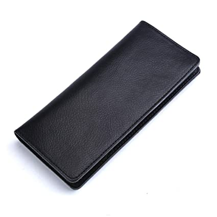 Cartera Hombre, Billetera Mujer, Mini Billetera Piel Juvenil Pinza Vintage RFID Originales Joven Oculta