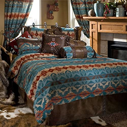 Queen Carstens Inc Carstens Turquoise Chamorro 5 Piece Bedding Set JB2076-5