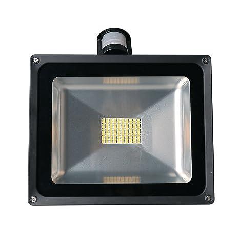 20W/30W/50W/80W Detector de Movimiento Luz, Foco Proyector con iluminación