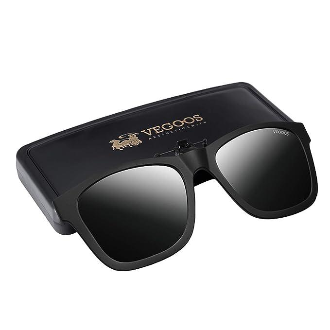 vegoos Gafas de Sol de Clip en Flip Up Lente polarizada ...