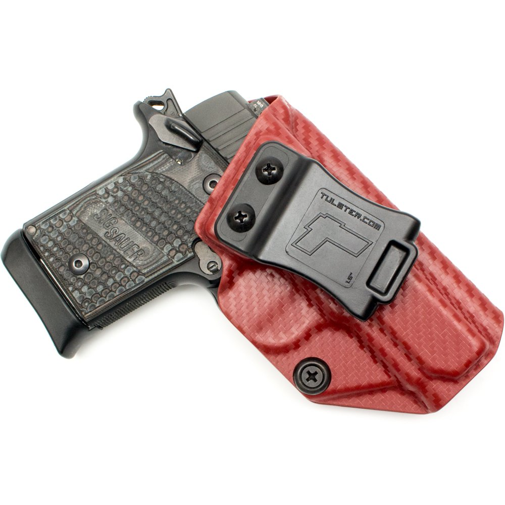 Tulster Sig P938 Holster IWB Profile Holster (Blood Red Carbon Fiber - Right Hand)