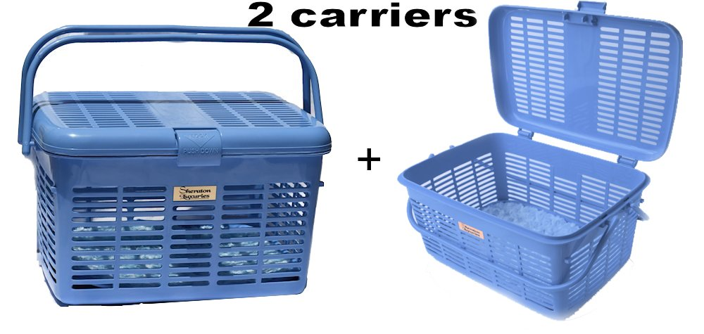 2 Pet Carriers Easy Open Wide Top Load Door Car Cat Carriers 16x11.63x10.25