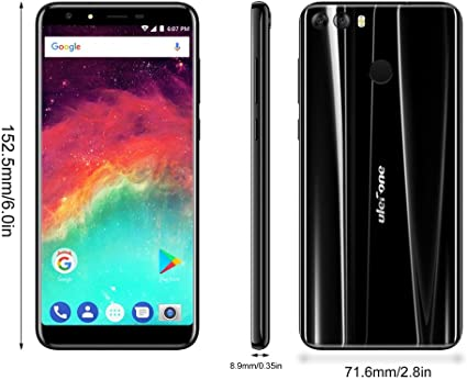 Ulefone S8 Pro - Smartphones y Móviles 4G Android 7.0 Dual SIM Quad Core 2GB RAM + 16GB ROM 5,3 Pulgadas Pantalla IPS HD Cámara Triple (5MP + 5MP + 13MP) Escáner