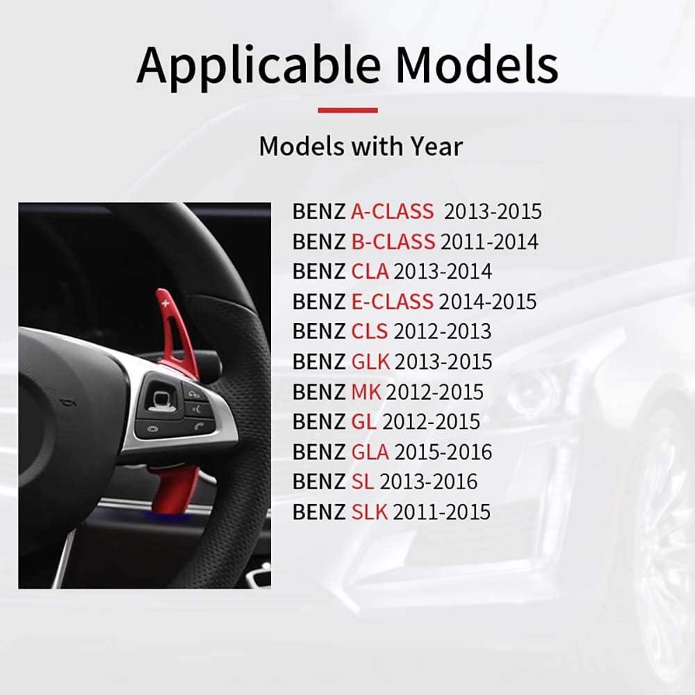 ONTTO Lot de 2 palettes de changement de vitesse DSG en alliage daluminium pour Mer-cedes Classe A Classe B Classe E CLA CLS GLK GLA GL MK SL SLK 2013 2014 2015