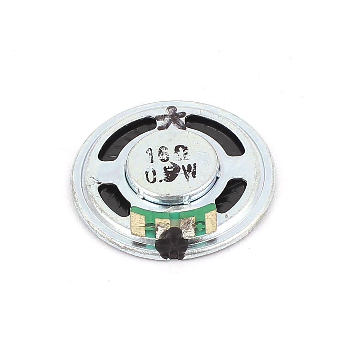 uxcell 36mm 16 Ohm 0.5W Aluminum Shell Internal Magnet Speaker Loudspeaker