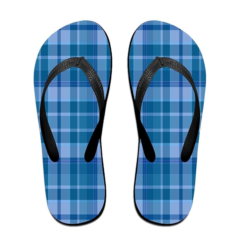 Unisex Non-slip Flip Flops Blue-plaid-2699776 960 720 (1) Cool Beach Slippers Sandal