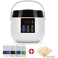 Upgraded Wax Warmer Hair Removal Kit for Women and Men Electric Wax Heater Home Waxing Machine for Body Face and Bikini Area with 4 Flavor Hard Wax Beans and 20 Wax Applicator Sticks