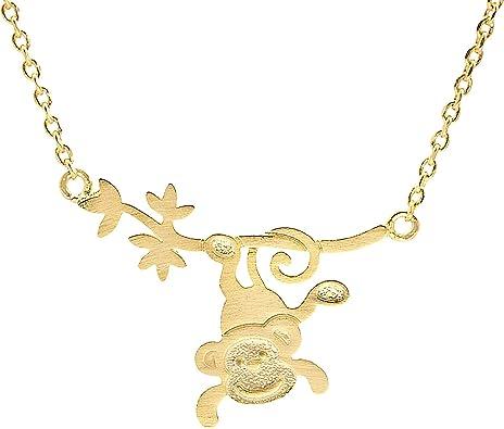 Hanging Monkey Necklace