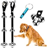 2 Pack Dog Doorbells Premium Quality Training Potty Great Dog Bells Adjustable Door Bell Dog Bells for Potty Training…