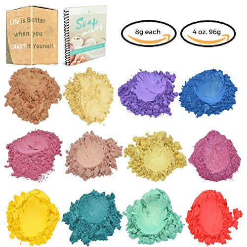 Mica Powder -Spring Collection- Bulk Size 4.3 oz for Soap, Candle, Bath Bomb, and Resin Making Natural Dye - Soap Supplies