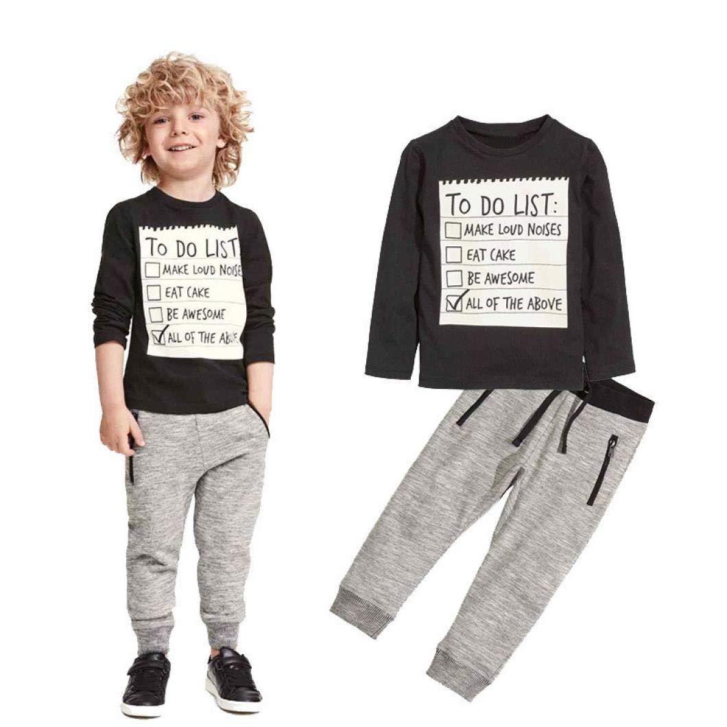 K-youth Ropa Bebé Niña Niño, Impresión Blusas Bebe Niña Manga Larga Camisetas Niño Otoño Invierno Ropa Conjuntos Moda Camisa + Pantalones Largos 2-7 Años