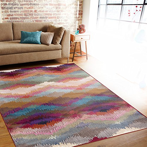 Rugshop Distressed Modern Geometric Soft Area Rug, 5'3