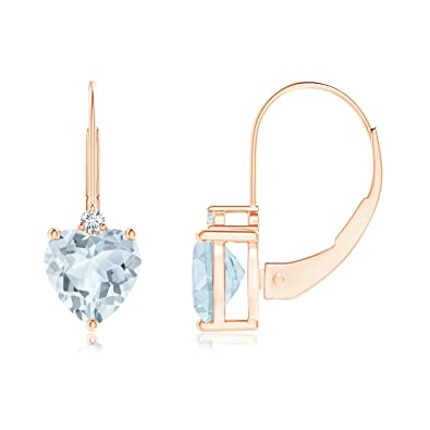 Angara Aquamarine and Diamond XO Leverback Drop Earrings KGev621i