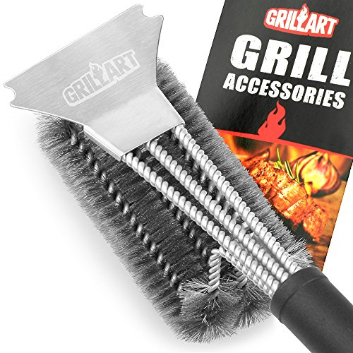 Grill Brush and Scraper - GRILLART Best BBQ Brush for Grill, Safe 18