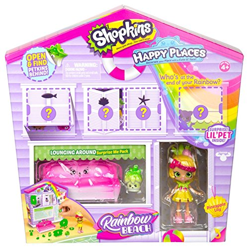 Shopkins Happy Places Rainbow Beach Furniture Set - Lounging Around from Shopkins