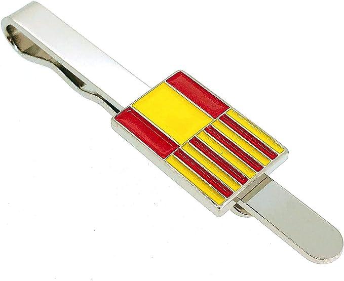 Gemelolandia Pasador de Corbata de la Bandera Cataluña y España: Amazon.es: Ropa y accesorios