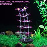 The Artificial Jellyfish Ornament| Generic Glowing Effect Realistic Artificial Silicone Fake Feather Coral | Easy Installation Eco-Friendly Fish Tank Ornament | Pink | 97.8