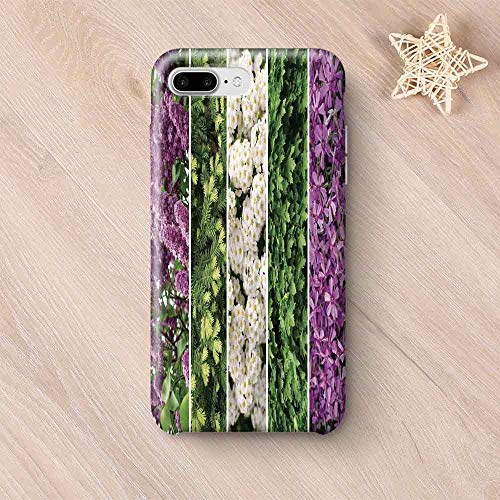 (Flower Printing Compatible with iPhone Case,Collage Mix Diverse Herbs and Blossoming Bouquet Flowers Romantic Wedding Concept for iPhone 6 Plus / 6s Plus,iPhone 7/8)