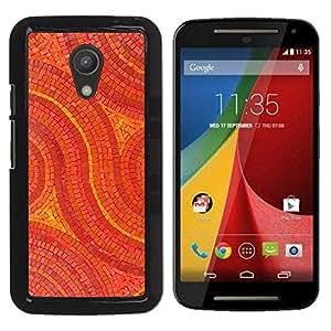 Be Good Phone Accessory // Dura Cáscara cubierta Protectora Caso Carcasa Funda de Protección para Motorola MOTO G 2ND GEN II // Mosaic Pattern Art Floor Design Stones