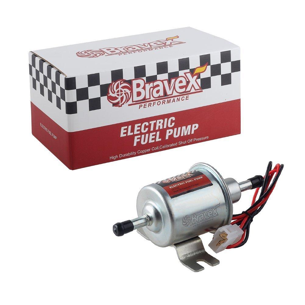 Bravex Universal Gas Diesel Inline Electric Fuel Pump HEP-02A 12V Low Pressure 2.5-4 PSI HKD