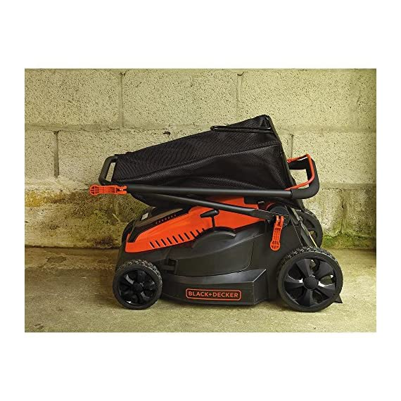 "BLACK+DECKER 40V MAX Cordless Lawn Mower, 16-Inch (CM1640) 6 Height Adjust- 6 settings, with a height of cut between 1-1/10"" and 3-1/10"" Includes (2) 40V Max Lithium Batteries Folding handles for easy & convenient storage"