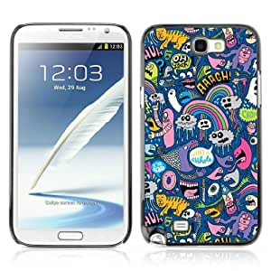 Designer Depo Hard Protection Case for Samsung Galaxy Note 2 N7100 / Cool Psychedelic Graffiti Pattern by icecream design