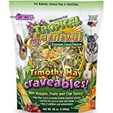 Tropical Carnival F.M. Brown's Natural Timothy Hay Craveables with Veggies, Fruits, and Oat Sprays, 48-oz Bag - Foraging Treat with High Fiber for Healthy Digestion