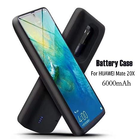 Funda Bateria para Huawei Mate 20X, 6000mAh Carcasa Bateria Externa Recargable Portatil Protector Cargador Power Bank Case para Huawei Mate 20X
