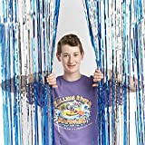 Vacation Bible School (VBS) 2018 Rolling River Rampage Blue/Silver Foil Decorating Curtain: Experience the Ride of a Lifetime with God!