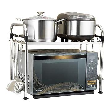 ZMW Acero Inoxidable Estantes de Cocina,Extensible Floor Stand ...