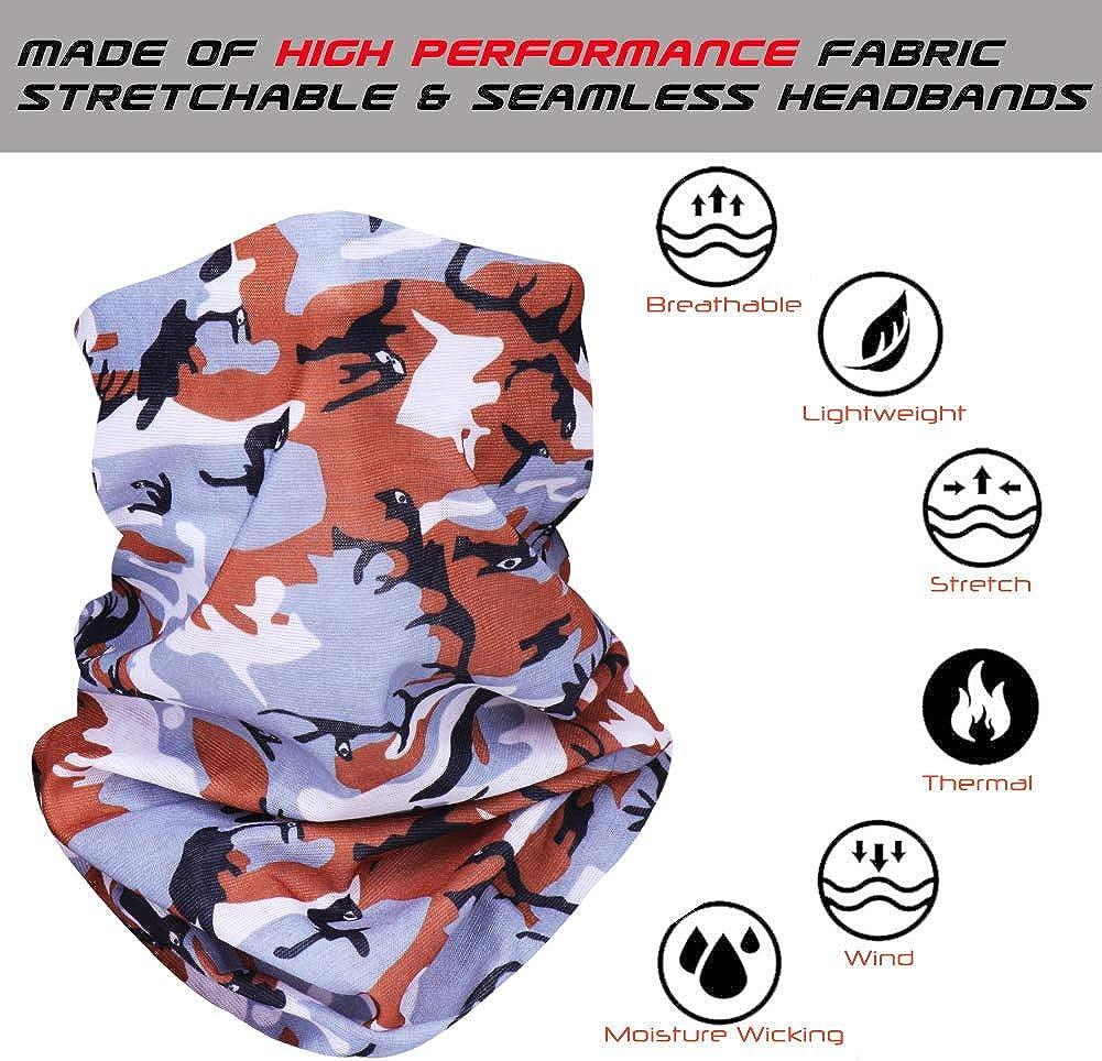 Lifocs Multifunktionales Gesichtstuch Wiederverwendbare halbe Bandanas M-f/örmiger Nasenclip 3D Cartoon Druck Atmungsaktive Sportmundabdeckung f/ür Herren Damen Kinder