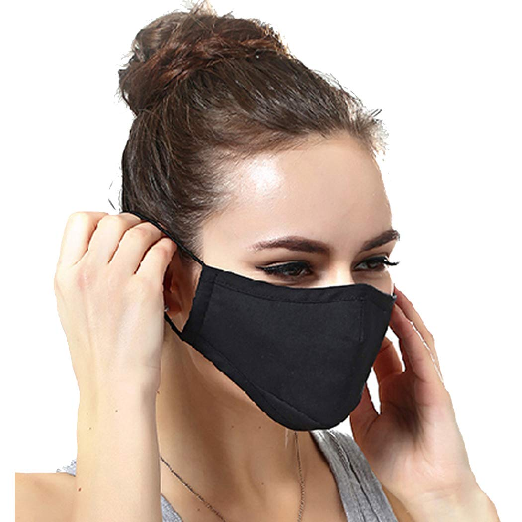 N95 Dust Mask Can Be Washed Reusable and Smoke Pollution Mask with Filter One Size Black