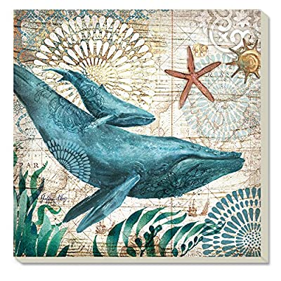 Counter Art Monterey Bay-Whale Absorbent Coasters, Set of 4