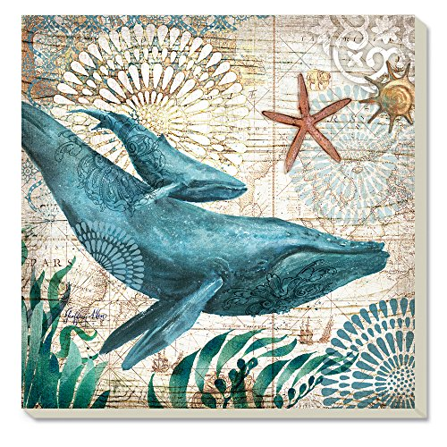 Counter Monterey Bay Whale Absorbent Coasters