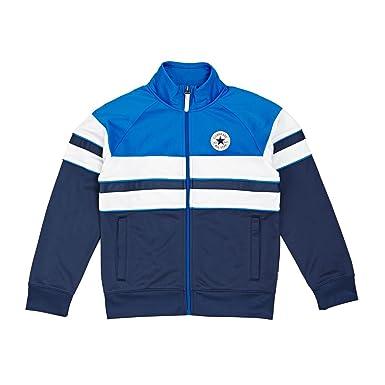 a0a511a7492a Converse Boys Navy Colour Block Track Jacket  Amazon.co.uk  Clothing