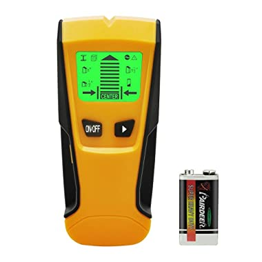 Stud Finder, Multi-Function Wall Stud Sensor Detector Scanner with LCD Display for Metal, AC Live Wire, Wood Finder with Warning Detection
