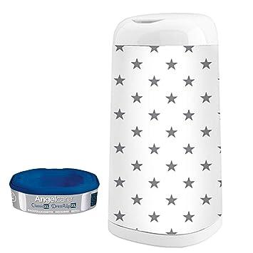 ANGELCARE référence pour Dress-up XL Couche Seau 66 cm Hauteur Grey Stars Top