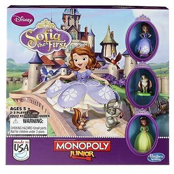 Disney Monopoly Junior Princesse Sofia Jeu De Societe Amazon Fr