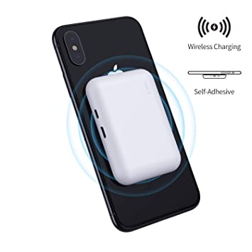 iWALK bateria Externa inalambrica,3000mAh Cargador inalambrico Universal Compatible con iPhone XS, XR, X, 8, 8 Plus, Samsung Galaxy S10, S10+, S9, ...