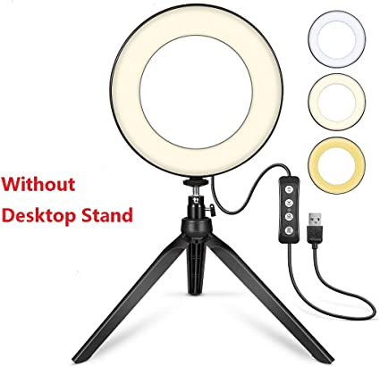 Led Ringlicht 15 2 Cm Mit Stativ Für Youtube Video Und Kamera