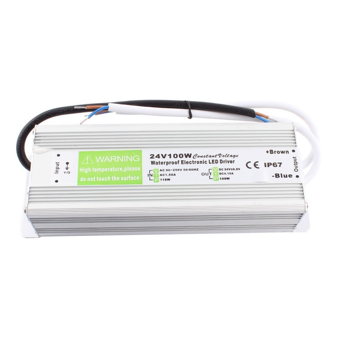joypjlit Dc24v 100w LED Transformer Power Supply Led Driver Waterproof for Outdoor Use Ip67