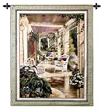 Fine Art Tapestries Vintage Comfort Wall Tapestry 2081-WH 42 inches wide by 53 inches long, 100% cotton