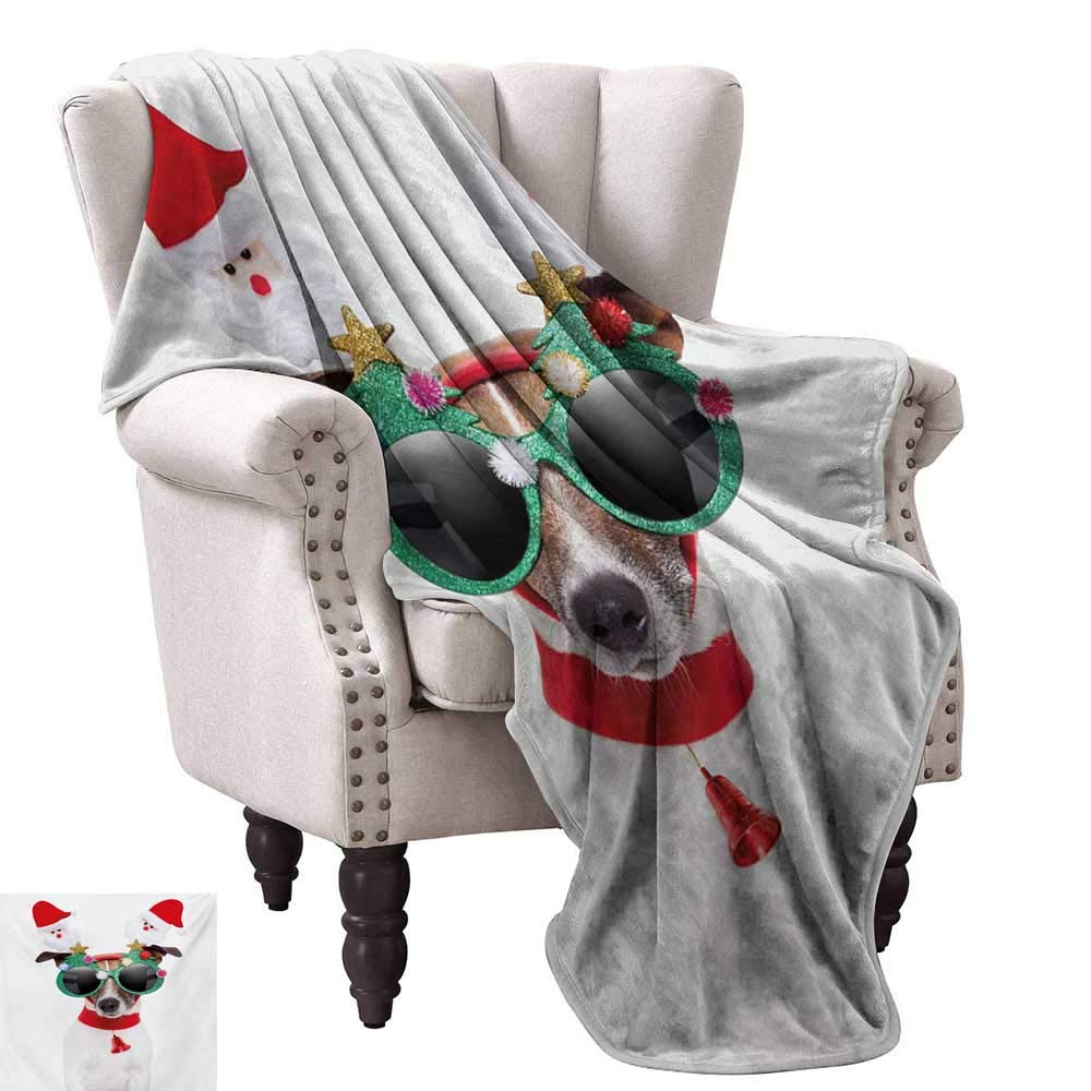 color04 60 Wx80 L WinfreyDecor Christmas Living Room Bedroom Warm Blanket Funny Cat Sleeping with a Hat and Little Fairy Hanging Xmas Ornaments Artistic Style Home, Couch, Outdoor, Travel Use 60  Wx60 L Red