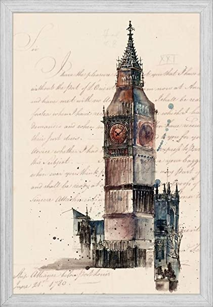 Amazon.com: Easy Art Prints Melissa Wang\'s \'Letters from Big Ben ...
