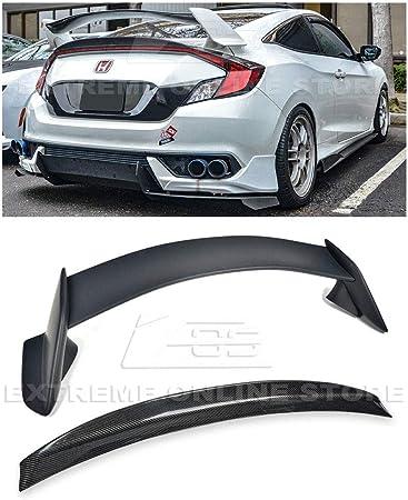 EOS Type-R Style JDM Carbon Fiber Rear Trunk Lid Wing Spoiler Extreme Online Store for 2016-Present Honda Civic 5Dr Hatchback