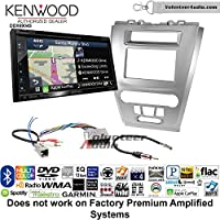Volunteer Audio Kenwood Excelon DNX694S Double Din Radio Install Kit with GPS Navigation System Android Auto Apple CarPlay Fits 2010-2012 Fusion (Silver) (Not for factory amplified systems)