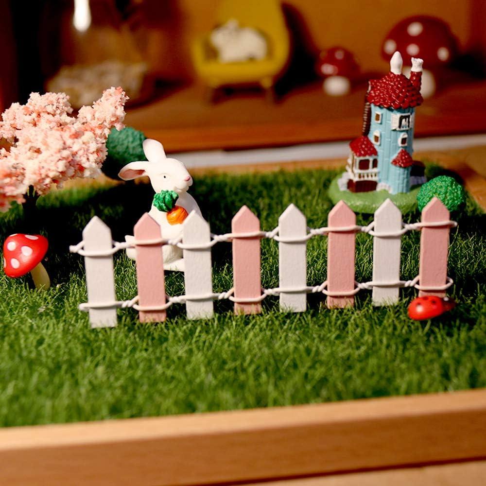 Limeow Recinto in Miniatura Legno Staccionata Bonsai Mini Recinto in Legno Giardino Micro Paesaggio Kit Micro Fence Legno Fence Mini 2 Pezzi per Alberi di Natale Decorare Piante Bonsai Decorare A