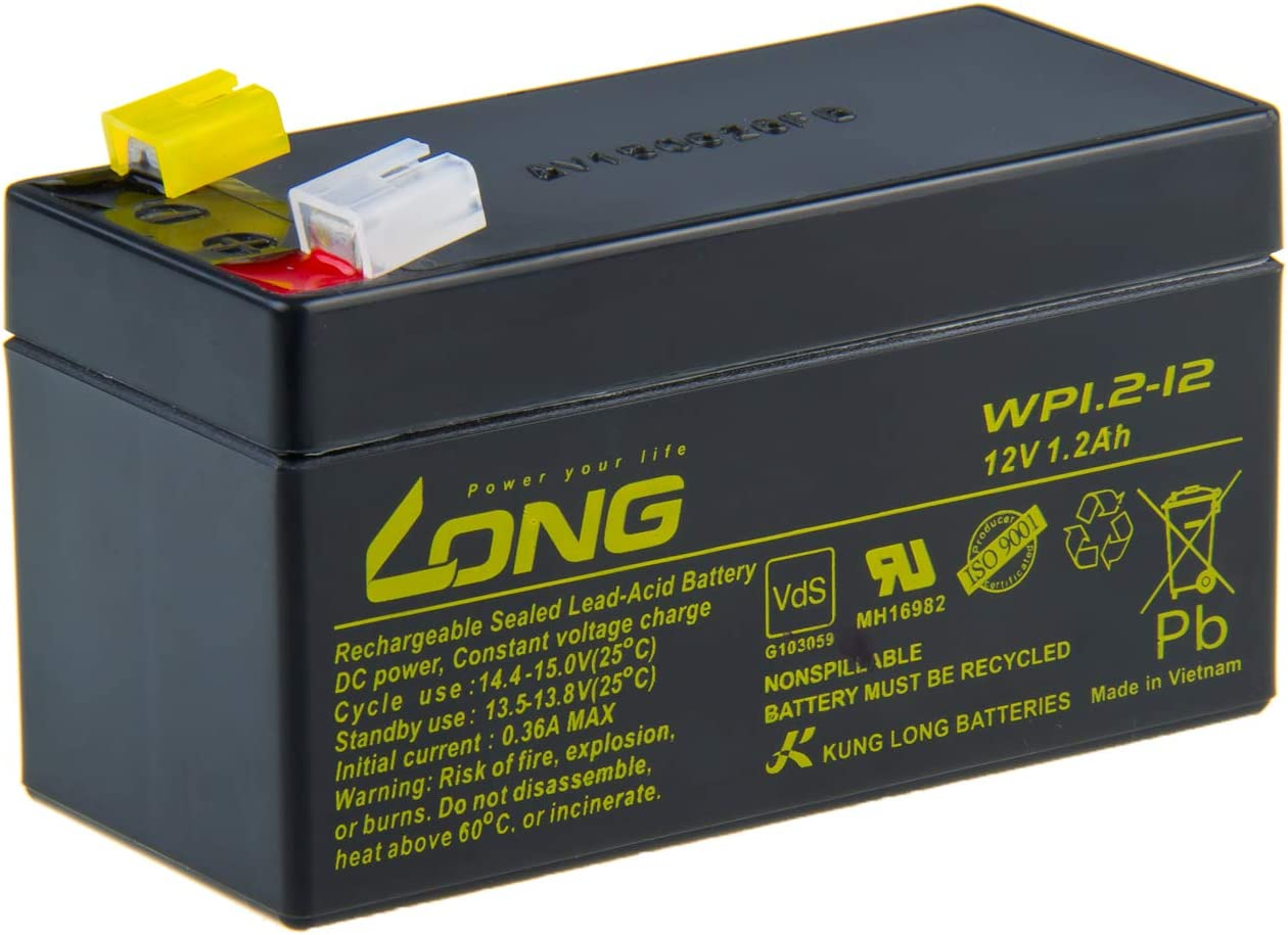 Multipower Bleigelakku//Blei Gel Akku//12V//1,2Ah//MP1.2-12//VRLA Batterie//Wartungsfrei//Betriebsbereit//hohe Zyklenfestigkeit